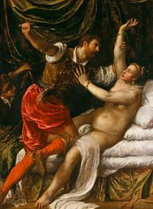 lucretia Titian Tarquin and Lucretia 1571